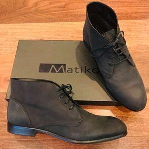 MATIKO Black Nubuck Oliver Boot